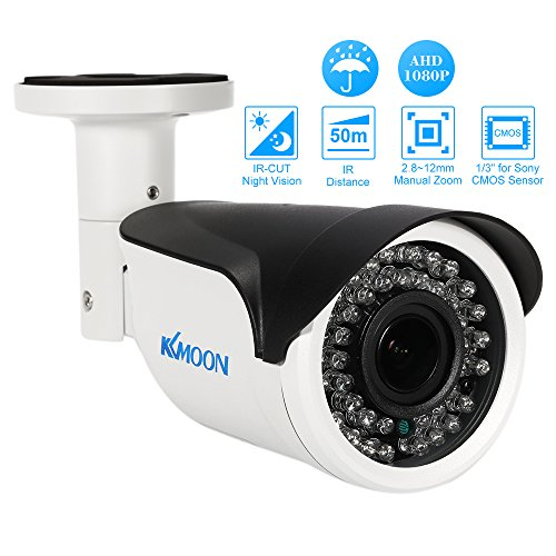 KKmoon 1080p AHD Bullet CCTV Analog-Kamera 2,8 ~ 12 mm Manuelle Zoom Vario Objektiv 1/3 Zoll für CMOS 2.0MP IR-CUT 42 IR-LEDS Nachtsicht Wetterfest Indoor Outdoor-Sicherheitssystem PAL (Japan Kamera)