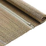 JU FU Bambusvorhang - Chinesische Tea Room Bambusrollos Anti-Infrarot-Staubschutz Dekorative Bambusvorhang für Interne/Externe Installation [3 Farben - Mehrere Größen] @