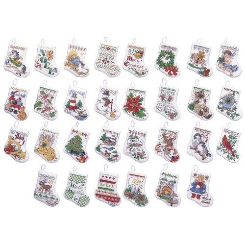 Bucilla 31/2Tiny Weihnachtsstrumpf Ornaments 14Count Kreuzstich Kit, Set of 30 -
