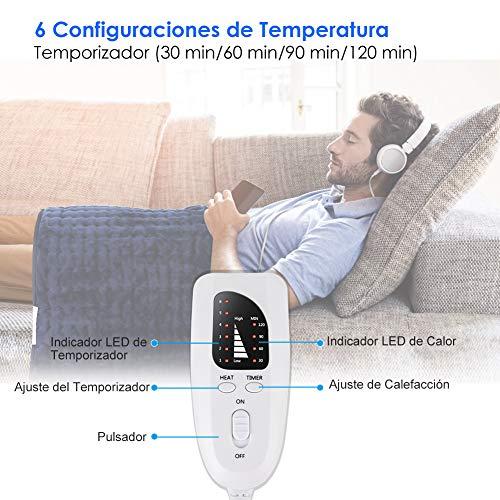 Manta Electrica Con Temporizador.Esseason Manta Electrica Lumbar Y Cervical Esterilla