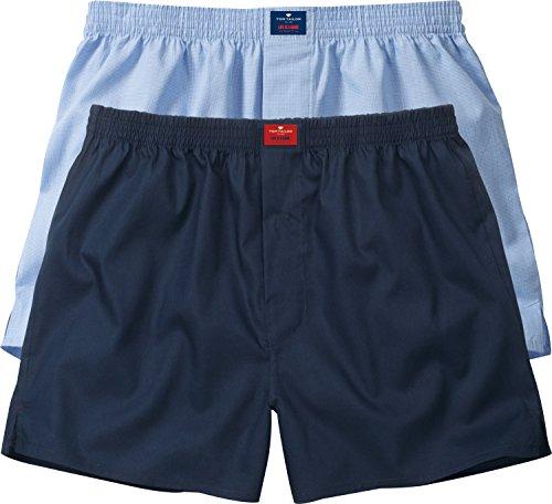Tom Tailor - Web-Shorts 2er Pack, Boxer Uomo Sortiert