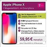 Apple iPhone X mit 64 GB internem Speicher mit Telekom Magenta L inkl. Telefon-und SMS Flat in Alle dt. Netze, 6GB Datenvolumen mit bis zu 300 Mbit/s, 24 Monate Laufzeit mtl.
