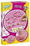 Totum-Creativity Glossy Bastel-Set: Bastel deine Ringe und Gliederarmbänder mit Anhängern, Stickern und 3D Aufklebern