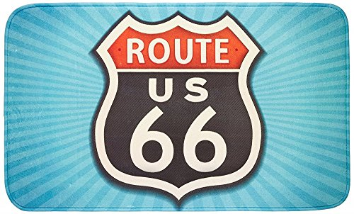 Original Wenko Badteppich Vintage Route 66 (Route 66-teppich)