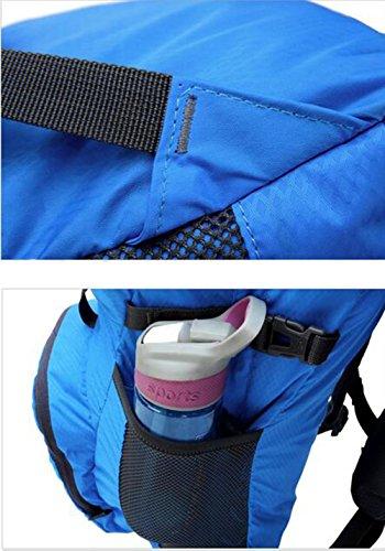 echofun leicht faltbar Rucksack reißfest Travel Rucksack Wasserdicht Wandern incl. Notebookfach Urlaub kann Staubbeutel in Kleine Griff Tasche leicht Blau