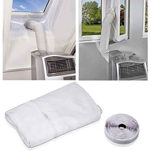 Fensterabdichtung für Mobile Klimageräte, AirLock, Passend zu Jedem Klimagerät und Allen Schlauchgrößen (300CM)