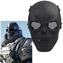 Ecloud Shop 2 pieces Máscara Protectora Negro Craneo Militar Amenazador Duradero