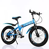 Children's bicycles CivilWeaEU- 6-8-10-12 Bicicleta para niños, 20/22 pulgadas para niños Bicicletas para estudiantes plegables (Tamaño : 20 inches)