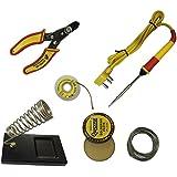 Generic 6 in1 Electric Soldering Iron Stand Tool Wire Stripper Kit 25 Watt Welding Stick Set