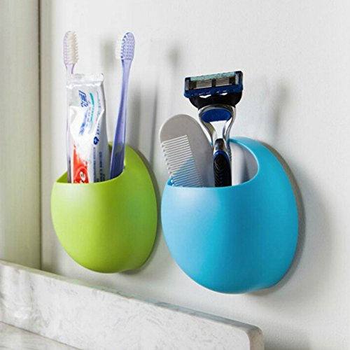 boodtag-toothbrush-holder-suction-cup-wall-mount-toothpaste-storage-rack-bathroom-organizer-green