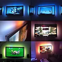 GOESWELL DC5V 5050 30LEDs 100cm TV Hintergrundbeieuchtung USB LED LeIsten Strip Set Band Leiste Lichtleiste Licht... preisvergleich bei billige-tabletten.eu