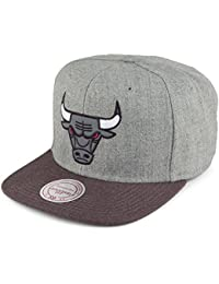 Mitchell   Ness Chicago Bulls Snapback Cap - Heather Reflective -  Grau-Anthrazit ceed842e48e