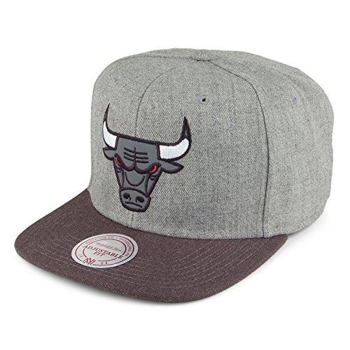 Mitchell & Ness Chicago Bulls Snapback Cap - Heather Reflective - Grey-Charcoal