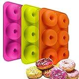 Tebery 3 Pack Silikon Donut Formen,kuchen formen geeignet für geschirrspüler