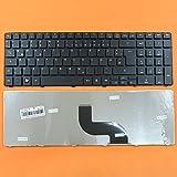 kompatibel für Acer Aspire 7741, 7741G Tastatur - Farbe: Schwarz - Deutsches Tastaturlayout