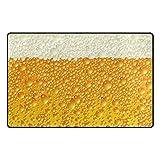 Bennigiry Bier Bereich Teppich Super Soft Polyester Große Rutschfeste Modern Bad-Teppiche für Schlafzimmer Wohnzimmer Hall Abendessen Tisch Home Decor 152,4 x 99 cm, 60 x 39 inch