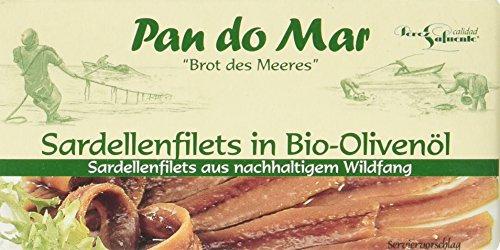 Pan do Mar Sardellenfilets (Anchovis) in Bio Olivenöl, 50 g