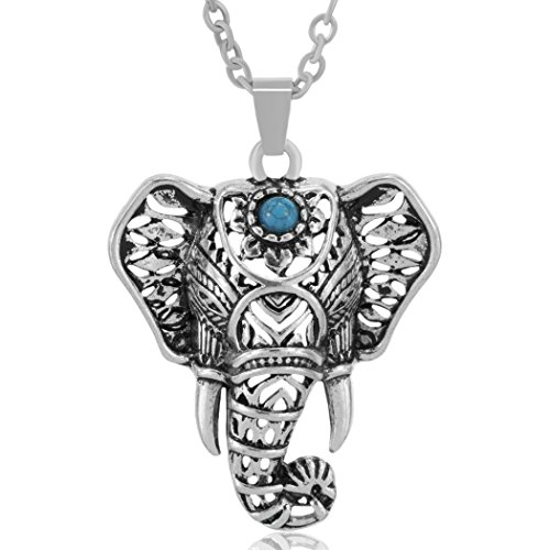 MESE London Collar de Cabeza de Elefante Bohemio Aleación de Zinc 'The One' en Caja de Regalo Elegante