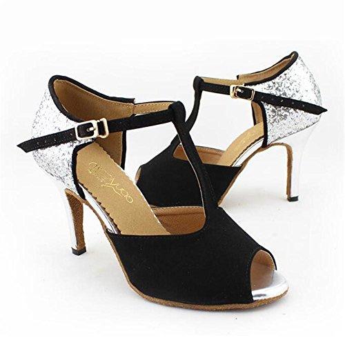 Scarpe da donna Danza Suola morbida Samba moderno Pompe latine Taglia 36To42 8.5cm Heel