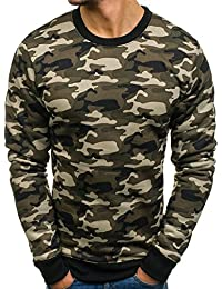 BOLF Herren Sweatshirt Langarmshirt Pullover Sweatjacke Pulli Camo Muster Mix 1A1