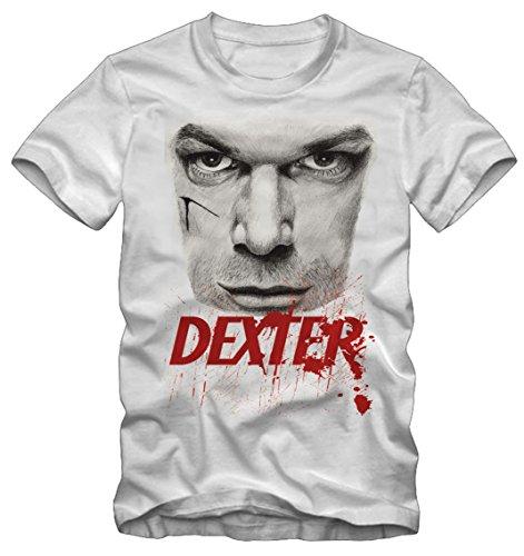 Bisura t-shirt dexter morgan face serie tv (m donna)