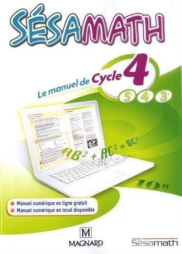 Sésamath cycle 4 - Nouveau programme 2016 par Sésamath