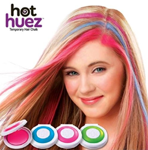 MagnusDeal® Hot Huez Temporary Hair Chalk-Set of 4 Colors Color-Assorted  available at amazon for Rs.449