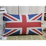 SKL London Olympic Decorative Rectangular UK Flag Union Jack Sherlock Holmes Movie Props Pillow Cases Sofa Chair Cushion Cover (50CM*30CM)