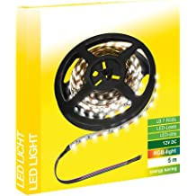 Transmedia LB7RGBL - Tira de luz LED RGB (12 V, 35 W, 5 m, 120°, necesita mando de la serie LC, intensidad regulable, con 60 ledes SMD 5050 por metro, 10 x 2 mm)