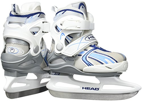 Head Ice Missy Patins à glace réglables pour fille Multicolore Blanc/bleu
