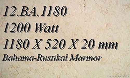 CALEFACCION POR INFRARROJOS–CALEFACTOR DE INFRARROJOS ELECTRICO (MARMOL MAGMA CALEFACCION 1200W 12  BA 1180
