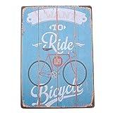 Ndier Affiche en métal que je veux monter des signes de bicyclette pour la barre, la maison, la plaque de mur de Resturant