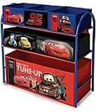 Disney Cars Metal Frame Multi Bin Toy Organiser
