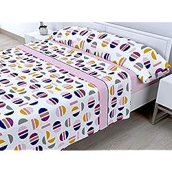 Cabetex Home - Juego de sábanas termicas de pirineo - 3 Piezas - 120 Gr/m2 - Mod. PICOLA (Rosa, 90_x_190/200 cm)