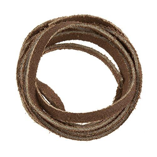 In pelle scamosciata, con finitura ruvida, 1 m, colore: marrone, 3,5 x 1,5 mm