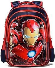 Boys & Girls Marvel Characters Spiderman Captain America Ironman 3D School Kids Bags Orthopaedic Backpacks