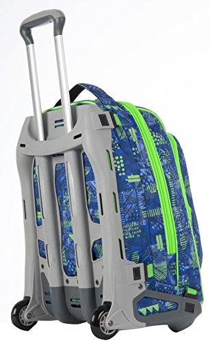 26c462027af67e TROLLEY TECH - INVICTA - TRIANGLE - 2in1 Zaino con carrello sganciabile -  Blu Verde 34Lt
