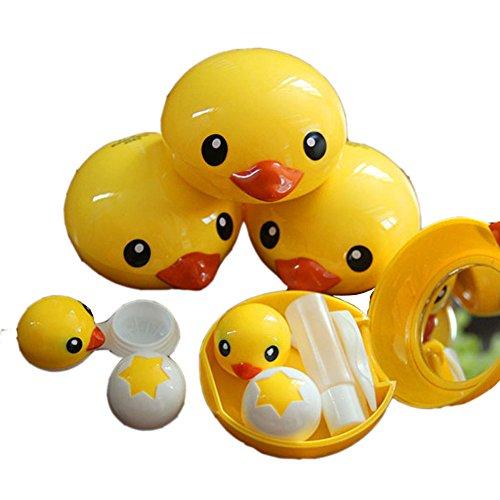 mignon-canard-jaune-avec-lentilles-de-contact-speciale-etui-support-boite-de