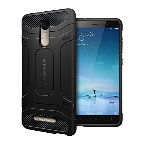 Redmi Note 3 Back Cover Case KAPAVER Premium Rugged Solid Black Shock Proof Slim Armor Case for Xiaomi Red mi Note 3