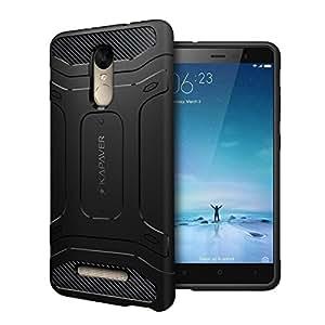 Kapaver Redmi Note 3 Back Cover Case Premium Tough Rugged Solid Black Shock Proof Slim Armor Case for Xiaomi Redmi Note 3