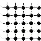 Mosaik Fliese Keramik Octagon weiß matt schwarz glänzend für WAND BAD WC DUSCHE KÜCHE FLIESENSPIEGEL THEKENVERKLEIDUNG BADEWANNENVERKLEIDUNG Mosaikmatte Mosaikplatte