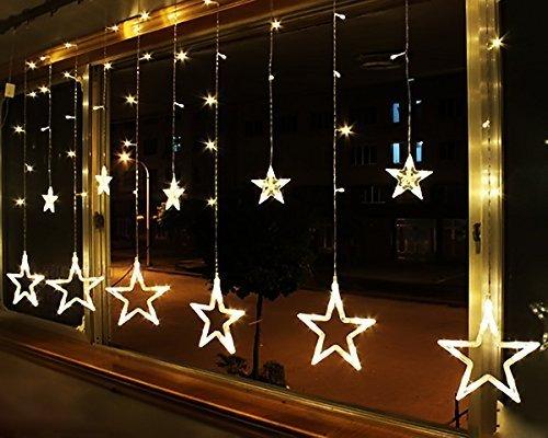 Toiles guirlande de rideaux led lumi re clairage for Decoration fenetre classe