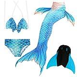 Das beste Mädchen Bikini Badeanzüge Schönere Meerjungfrauenschwanz Zum Schwimmen mit Meerjungfrau Flosse Schwimmen Kostüm Schwanzflosse - Ein Mädchentraum- Gr. 120, Farbe: A06(2)