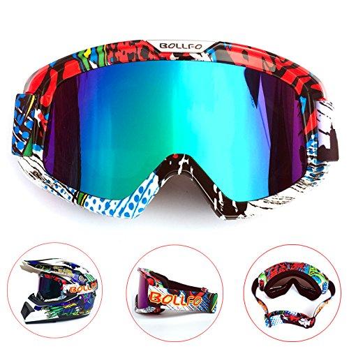 rille Mit Abnehmbarer Gesichtsmaske Harley Stil Helm Nebelfest Winddicht Reiten Sonnenbrille ()