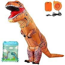 Tacobear Inflables Dinosaurio T-Rex Disfraz Hinchable Dinosaurio Disfraz hinchaple Vestido con Bolsa de Lazo