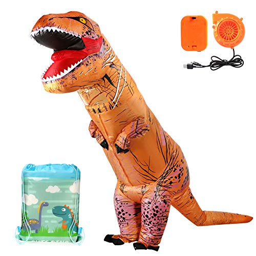 T-Rex Gonfiabile Dinosauro Costume con borsa con cordoncino Costumi di Halloween TRex Dinosauro Costumi per Adulti e bambini (per Bambini)