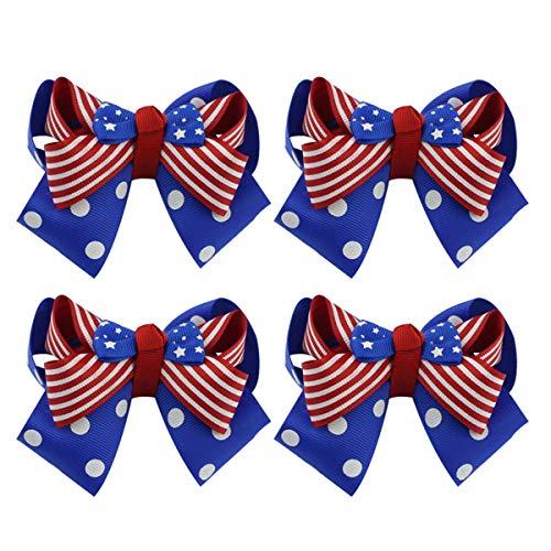 Amosfun 4pcs américain Cheveux Arc pour bébé Filles Adolescentes Enfants en Bas âge Enfants pour la fête de l'indépendance 4 Juillet