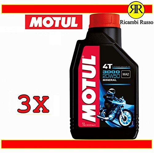Olio motore moto Motul 3000 20w50 4T minerale litri 3