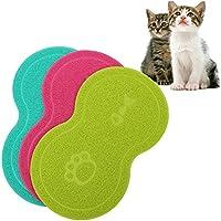 Cuteco - Alfombrilla antideslizante de silicona para colocar el tazón de alimento de la mascota, resistente al agua, para gatos y perros
