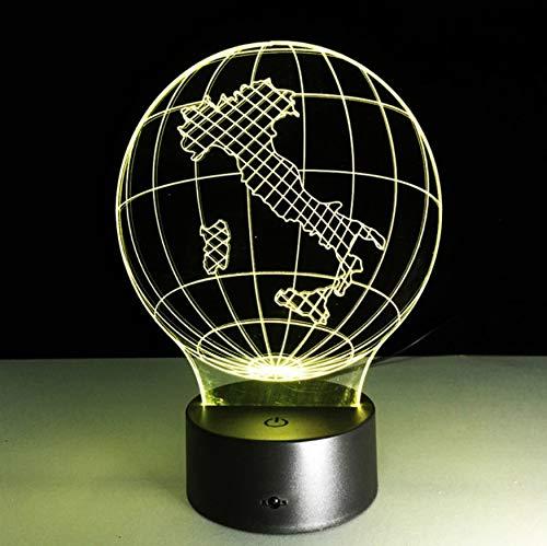 3D Led Nachttischlampen 7 Farben Italien Karte Lampe Nacht Lampen Für Kinder Touch Usb Tisch Lampara Lampe Baby Schlafen Nachtlicht Nachtlicht
